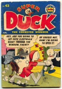 Super Duck #43 1952- Golden Age Archie Funny Animals-VG