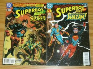 Superboy Plus #1-2 VF complete series - shazam - dan brereton - scare tactics