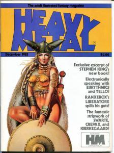 HEAVY METAL December 1983 January 1984, Jeff Jones, Moebius, 2 issues in all