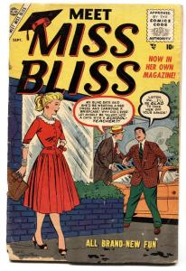 Meet Miss Bliss #3 1955-Marvel-Good Girl art-fr/g