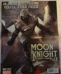MOON KNIGHT DARK ANGEL SAGA Promo Poster, 10 x 13, 2011, MARVEL,  Unused 377