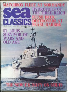 Sea Classics 1/1974-Challenge-Pearl Harbor-#rd Reich-WWII-Hitler-VF