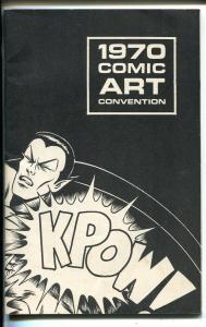 1970 Comic art Convention Program Book-Neal Adams-Nick Cuti-Hal Foster-VF
