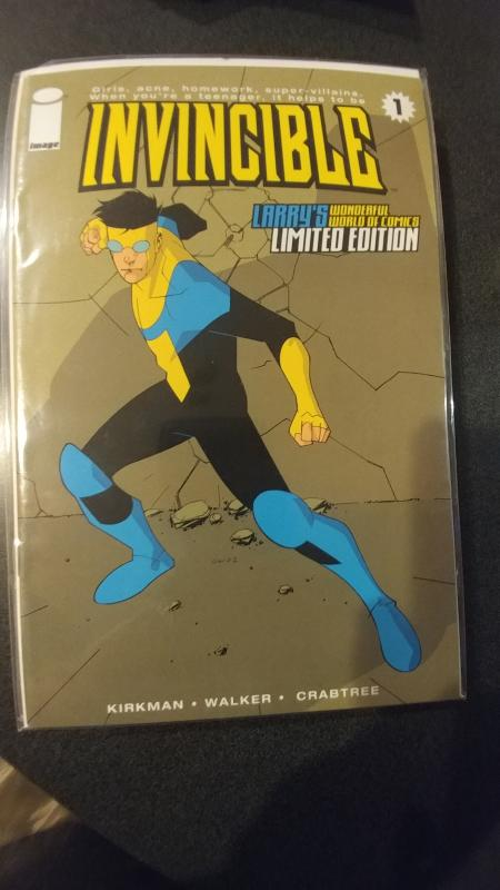 Invincible #1 Larry's Wonderful World of Comics Limited