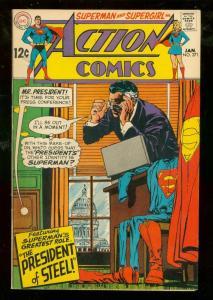 ACTION COMICS #371 1969-DC COMICS-SUPERMAN-HIGH GRADE VF+