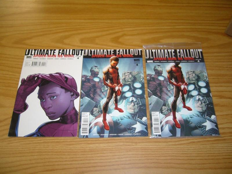 Ultimate Fallout #4 VF/NM miles morales with 2nd print variant - spider-verse