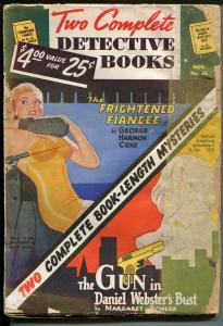 Two Complete Detective Books #65 11/1950-hardboiled pulp-Good Girl art-GOOD