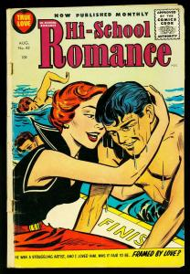 Hi-School Romance #42 1955- Harvey Comics- Roller Derby story- VG