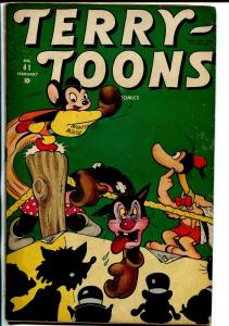 Terry-Toons #41 1946-Timely Funny Animal-Mighty Mouse- Boxing cover VG+