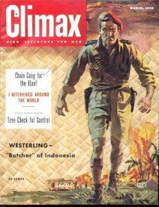 CLIMAX 1953 MAR-#1-KKK/MAU MAU/SCI-FI/PULP FN