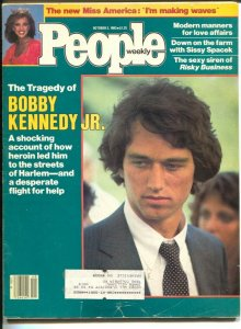 People Weekly 10/3/1983-Bobby Kennedy Jr-Vanessa Williams-Sissy Spacek-VG