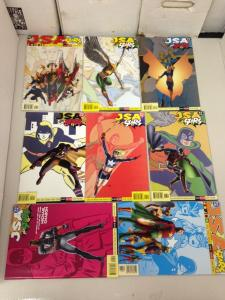 JSA All-stars 1-8 COmplete set Inc. #4 average garade NM-