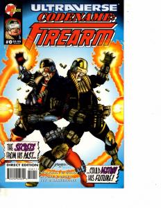 Lot Of 7 Ultraverse Codename: Firearm Comic Books #0 1 2 3 4 5 8  ON13