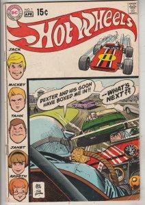 Hot Wheels #1 (Apr-70) FN/VF Mid-High-Grade Jack, Mickey, Tank, Janet, Ardeth