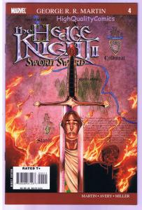 HEDGE KNIGHT SWORN SWORD #4, George R R Martin, NM-, 2007, Mike Miller