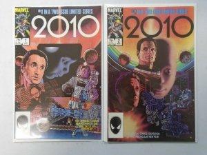 2010 set #1+2 Direct editions 8.0 VF (1984 Marvel)