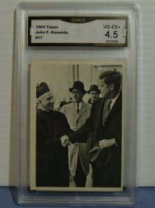 1964 Topps John F. Kennedy Series Trading Card #17 Pastor at Mass - Graded 4.5