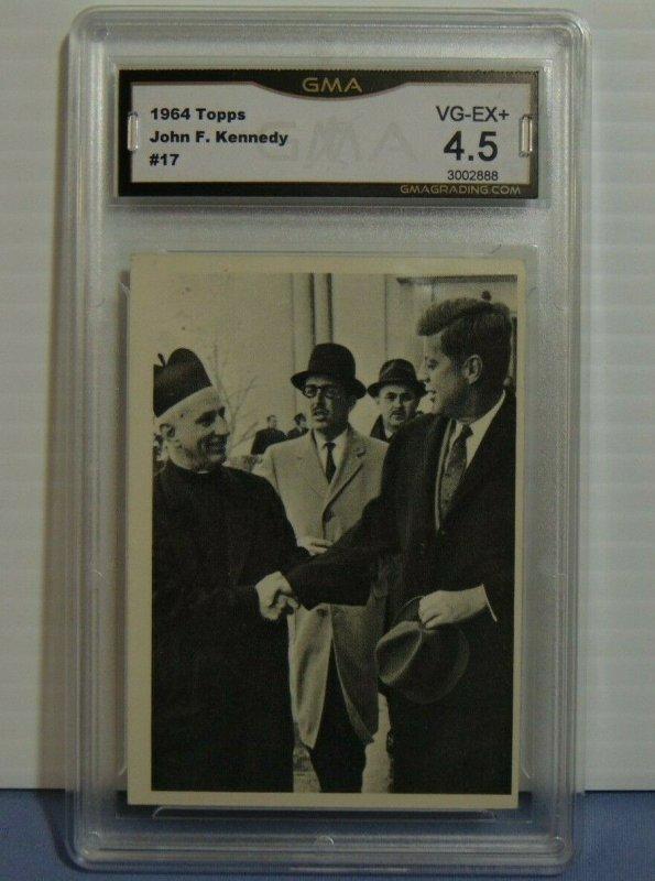 1964 Topps John F. Kennedy Series Trading Card #17 Pastor at Mass - Graded 4.5