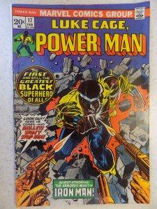 LUKE CAGE POWER MAN # 17 FIRST POWER MAN TITLE