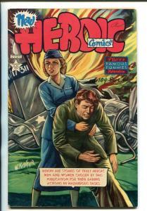 HEROIC #68 1951-FAMOUS FUNNIES-RESCUES-ADVENTURES-KIESER ART-PLANE CRASH-fn/vf