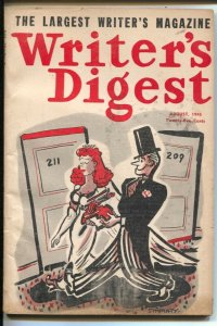 Writer's Digest 8/1945-writing for radio-Mammoth Mysteries-Planet Stories-Ama...