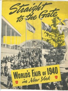 New York World's Fair Promo Guide 1940-4 pages-fair info-directions-Rare-VG