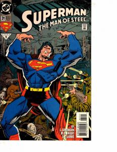Lot Of 4 Superman Man of Steel DC Comic Book #31 32 33 34  Batman   BH41