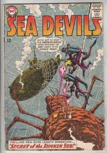 Sea Devils #15 (Feb-64) FN Mid-Grade Sea Devils (Dane Dorrence, Biff Bailey, ...