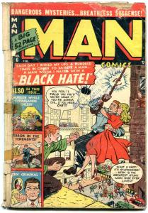 Man Comics #6 1951- Black Hate- Terror in the Tenements reading copy