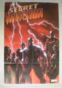 SECRET INVASION Promo Poster, 24x36, 2008, Unused, Skrull Captain America