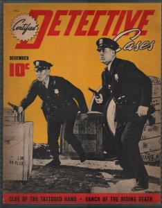 Certified Detective Cases #7 12/1940-police pix cover-lurid-violent pulp-FN