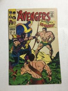 Avengers 40 Fn- Fine- 5.5 Marvel Comics