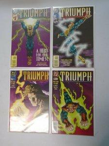 Triumph set #1-4 8.5 VF+ (1995)