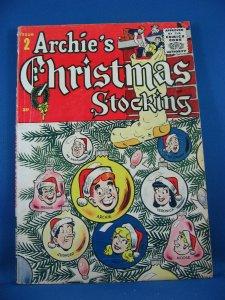 ARCHIE CHRISTMAS STOCKING 2 VG+ 1955