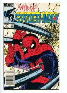 WEB OF SPIDER-MAN #4 1985 Newsstand cover MARVEL - NM-