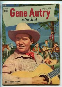 GENE AUTRY #54-1951-DELL-WESTERN-PHOTO COVERS-MOVIE-TV-vg