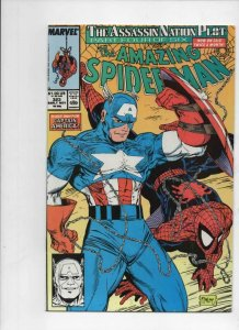Amazing SPIDER-MAN #323, VF, Captain America, Todd McFarlane 1963 1989 Marvel
