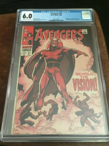 THE AVENGERS #57 CGC 6.0 - 1ST APP VISION - SILVER AGE KEY