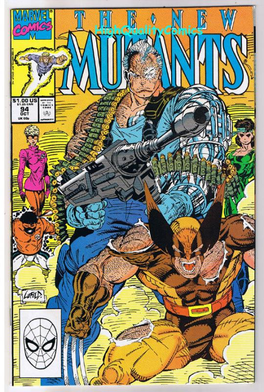 NEW MUTANTS #94, NM, Cable, Wolverine, X-men, Lethal,1983, more NM in store