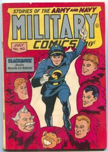 Military Comics #40 1945- BLACKHAWK-Golden Age VG/F