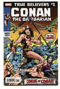 True Believers: Conan the Barbarian #1 2019 Marvel comic book NM-