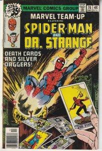 Marvel Team Up(vol. 1) # 76 Spiderman, Dr. Strange, and Ms. Marvel