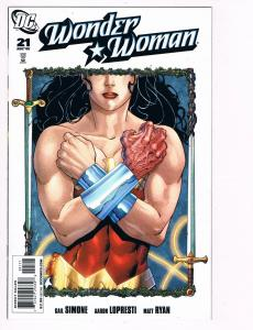 Wonder Woman # 21 DC Comic Books Hi-Res Scans Modern Age Great Issue WOW!!!!! S6