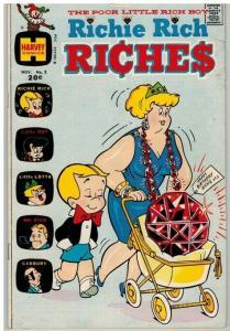 RICHIE RICH RICHES (1972-1982) 3 VG Nov. 1972 COMICS BOOK