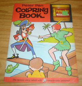 Peter Pan Coloring Book #1 FN peanut butter promo 1963 pages all uncolored