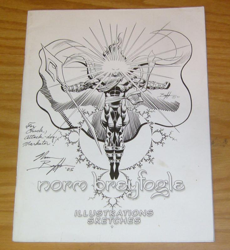 Norm Breyfogle: Illustrations & Sketches #1 FN signed by breyfogle 2003
