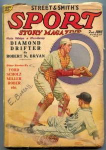 Sport Story Pulp 2nd June 1936- DIAMOND DRIFTER