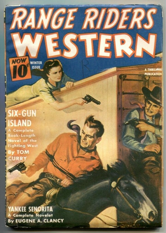 Range Riders Western Pulp Winter 1942- Six-Gun Island VG