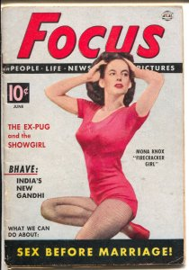 Focus 6/1952-Atlas-Mona Knox cover-Ralph Charles-mini mag-cheesecake-FN