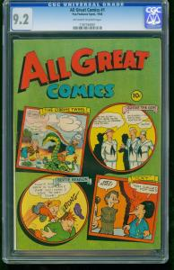 ALL GREAT COMICS #1-CGC 9.2-1946-HIGH GRADE-SOUTHERN STATES 1197194001